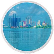 Southern Border Crossers Round Beach Towel