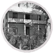 Southern Charm Black And White Round Beach Towel