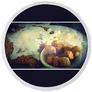 Southern Comfort Deep Fried Round Beach Towel
