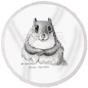 Southern Flying Squirrel Round Beach Towel