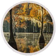 Southern Gold Round Beach Towel