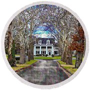 Southern Gothic Round Beach Towel