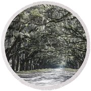 Southern Homecoming Round Beach Towel