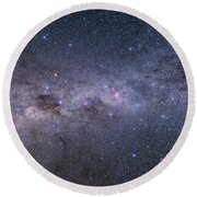 Southern Milky Way From Vela Round Beach Towel