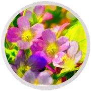 Southern Missouri Wildflowers 1 - Digital Paint 1 Round Beach Towel