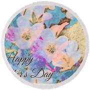 Southern Missouri Wildflowers -1 Mother's Day Card Round Beach Towel