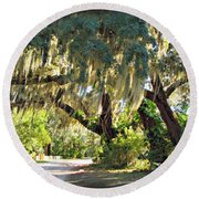 Southern Pathway Round Beach Towel