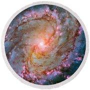 Southern Pinwheel Galaxy - Messier 83 -  Round Beach Towel