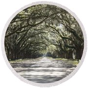 Southern Road Round Beach Towel