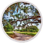 Southern Serenity Round Beach Towel