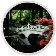 Southern Splendor Round Beach Towel