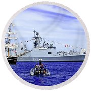 Southern Swan Cruising By Round Beach Towel