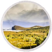 Southern Tip Of Bruny Island Round Beach Towel