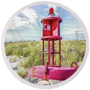 Southernmost Point Buoy- Cape May Nj Round Beach Towel