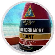 Southernmost Point Round Beach Towel