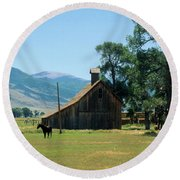 Southfork Barn Round Beach Towel
