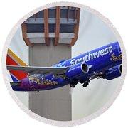 Southwest 737-7l9 N7816b Coco Phoenix Sky Harbor November 30 2017 Round Beach Towel