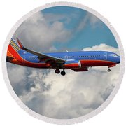Southwest Airlines Boeing 737-700 Round Beach Towel