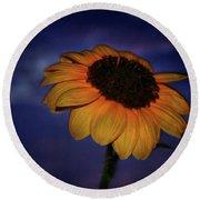 Southwest Sunflower Round Beach Towel