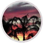 Southwest Sunset Round Beach Towel