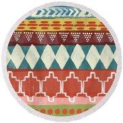 Southwestern 1- Art By Linda Woods Round Beach Towel