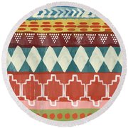 Southwestern 1- Art By Linda Woods Round Beach Towel