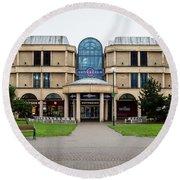 Sovereign Shopping Centre - Entrance From The Garden Round Beach Towel