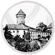 Sovinec - Castle Of The Holy Order Round Beach Towel