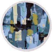 Spa Abstract 2 Round Beach Towel by Debbie DeWitt