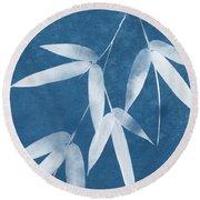 Spa Bamboo 1-art By Linda Woods Round Beach Towel