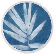 Spa Bamboo 2- Art By Linda Woods Round Beach Towel