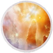 Space 007 Round Beach Towel