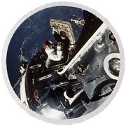 Space: Apollo 9 Round Beach Towel