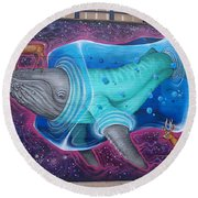Space Dream Round Beach Towel