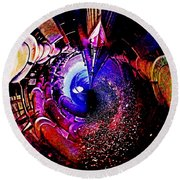Space In Another Dimension Round Beach Towel