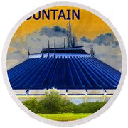 Space Mountain Round Beach Towel