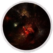 Space Nebula 2 Round Beach Towel