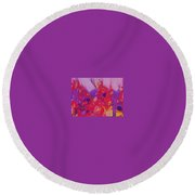 Space On Fire Round Beach Towel