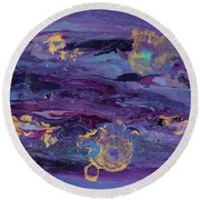 Space Royalty Round Beach Towel