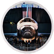 Space Shuttle Discovery Round Beach Towel