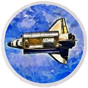 Space Shuttle In Space - Da Round Beach Towel