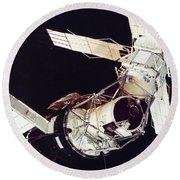 Space: Skylab 3, 1973 Round Beach Towel