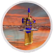 Space Station 3 Round Beach Towel