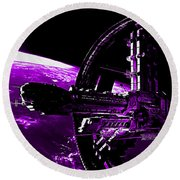 Space Station Round Beach Towel