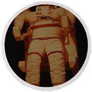 Space Suit Round Beach Towel