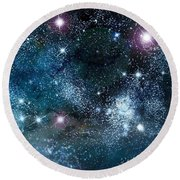 Space003 Round Beach Towel by Svetlana Sewell