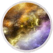 Space005 Round Beach Towel