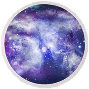 Space009 Round Beach Towel