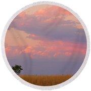 Spacious Skies Amber Waves Of Grain Boulder County Round Beach Towel