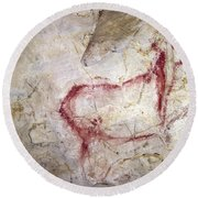 Spain: Cave Painting Round Beach Towel